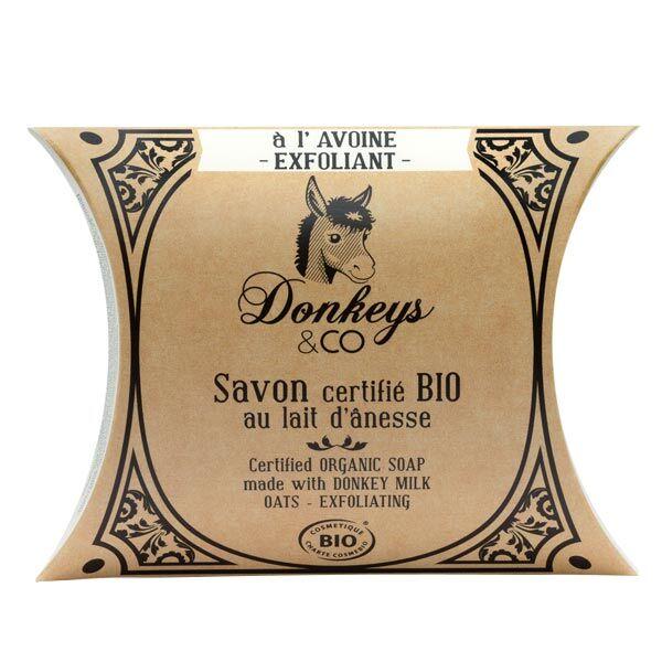Donkeys & Co Savon Au Lait d'Ânesse Avoine Exfoliant Bio 100g