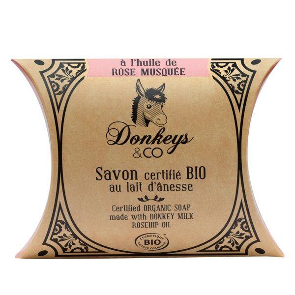 Donkeys & Co Savon Au Lait d'Ânesse Rose Musquée Bio 100g