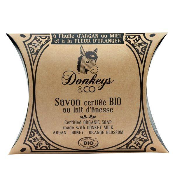 Donkeys & Co Savon Au Lait d'Ânesse Argan Miel Fleur d'Oranger Bio 100g