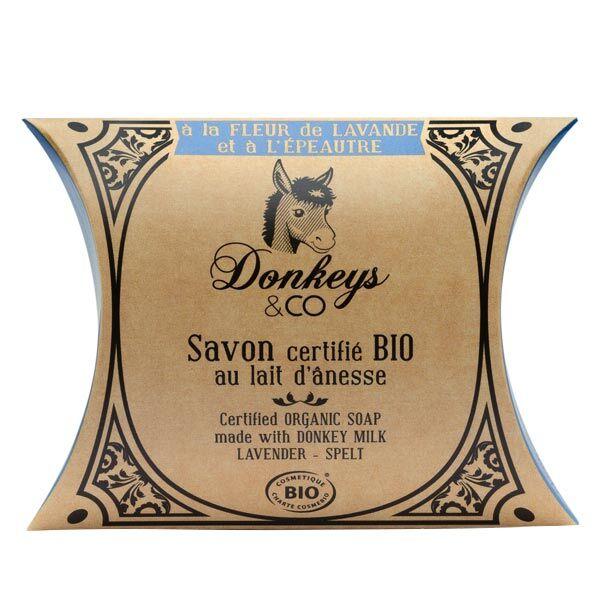 Donkeys & Co Savon Au Lait d'Ânesse Fleur de Lavande Épeautre Bio 100g