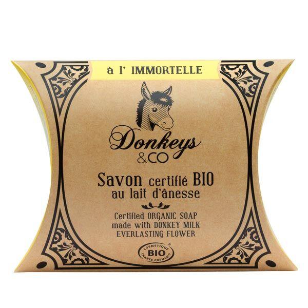Donkeys & Co Savon Au Lait d'Ânesse Immortelle Bio 100g