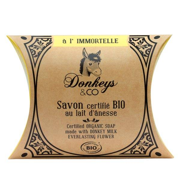 Donkeys & Co Savon Au Lait d'Ânesse Immortelle Bio 100g