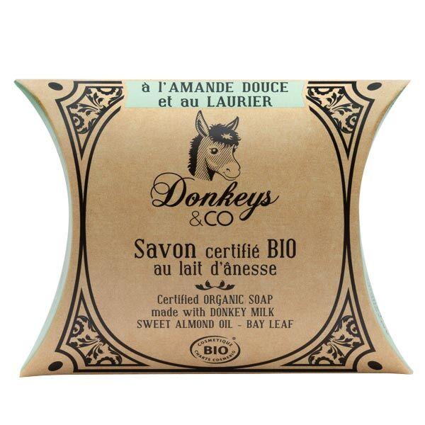 Donkeys & Co Savon Au Lait d'Ânesse Amande Douce Laurier Bio 100g