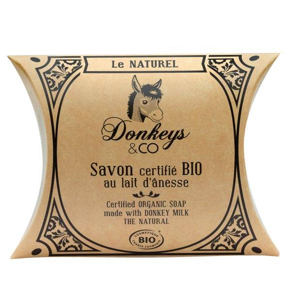 Donkeys & Co Savon Au Lait d'Ânesse Le Naturel Bio 100g