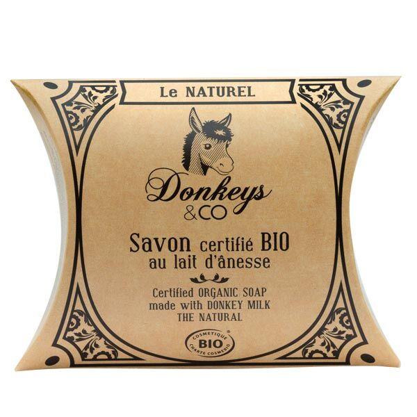 Donkeys & Co Savon Au Lait d'Ânesse Le Naturel Bio 100g