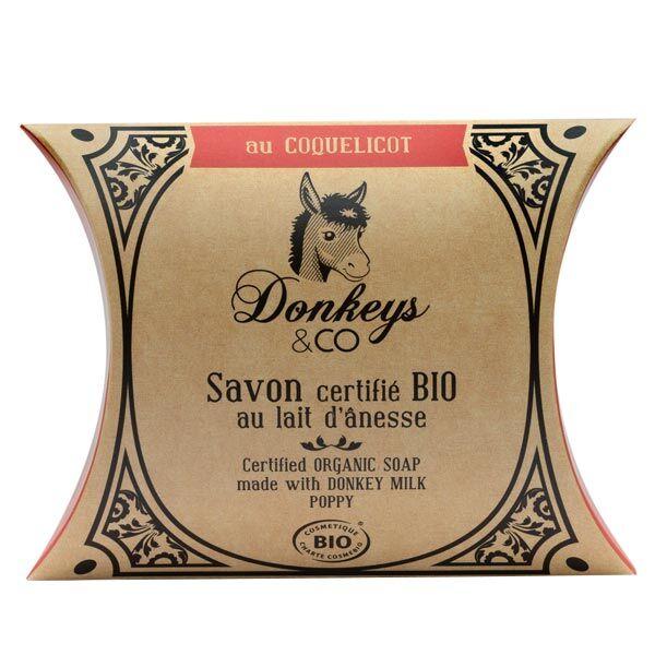 Donkeys & Co Savon Au Lait d'Ânesse Coquelicot Bio 100g