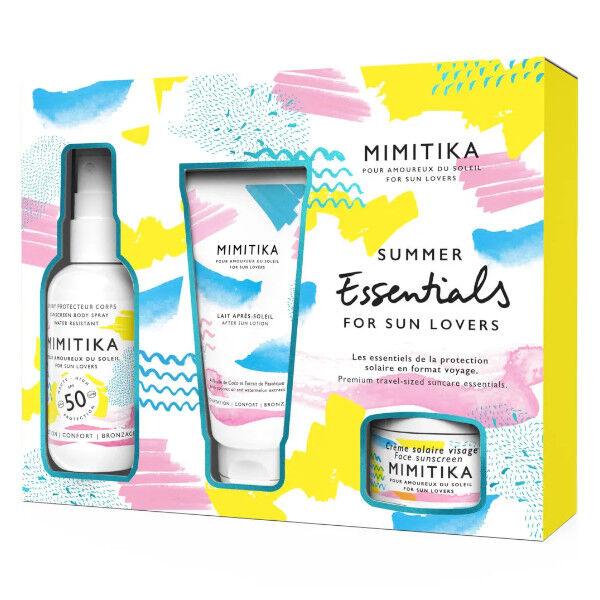 Mimitika Kit Summer Essentials Spray Protecteur Corps SPF50 200ml + Crème Solaire Visage SPF50 50ml + Lait Après-Soleil 150ml