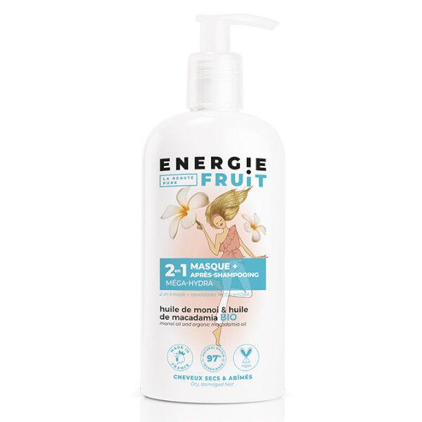 Energie Fruit 2 en 1 Masque et Après-Shampooing Monoi et Huile de Macadamia Bio 300ml
