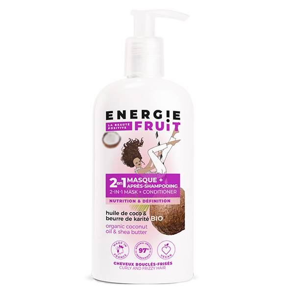 Energie Fruit 2 en 1 Masque et Après-Shampooing Coco et Beurre de Karité Bio 300ml