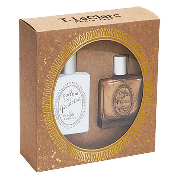 T-LeClerc Parfum Coffret Parfum D'Eté Poudré 50ml + Huile Poudrée Scintillante 50ml