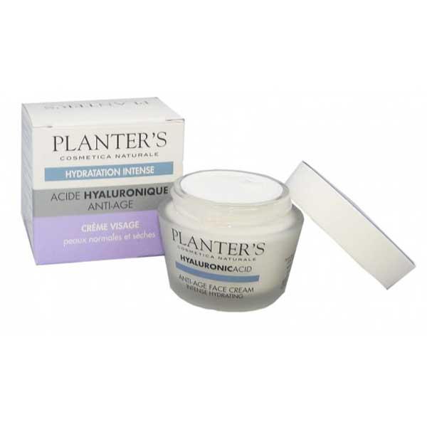Planter's Acide Hyaluronique Crème Visage Anti-Age Hydratation Intense 50ml