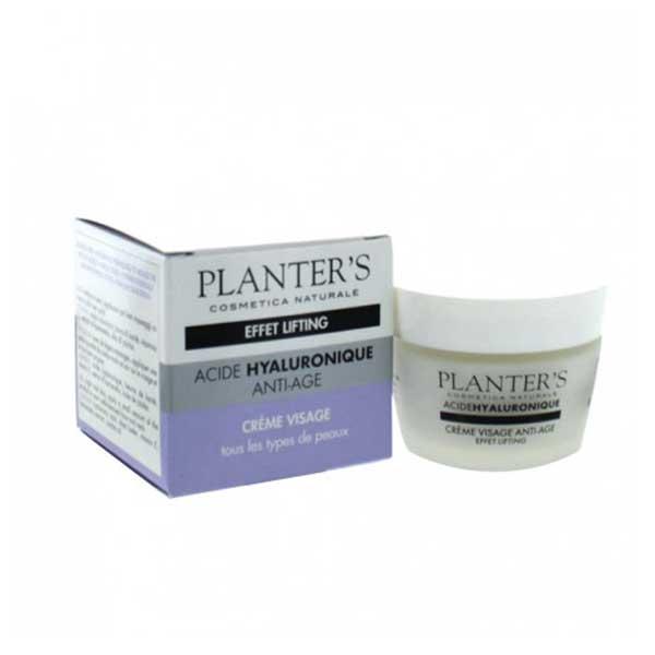 Planter's Acide Hyaluronique Crème Visage Anti-Age Effet Lifting 50ml