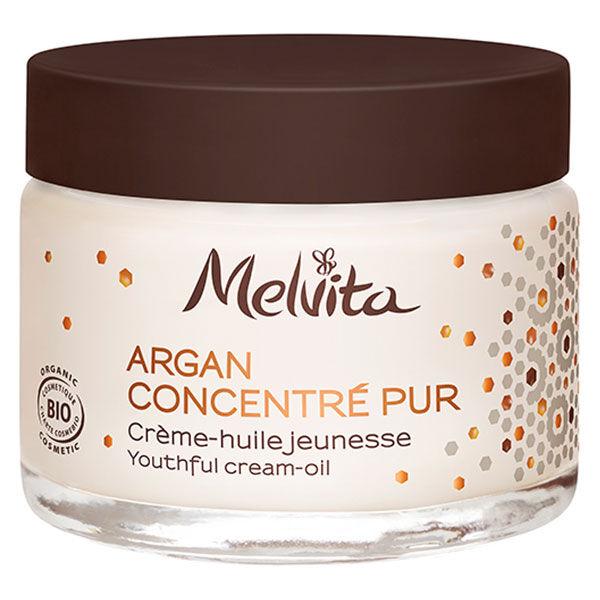 Melvita Argan Concentré Pur Crème Huile Jeunesse Bio 50ml