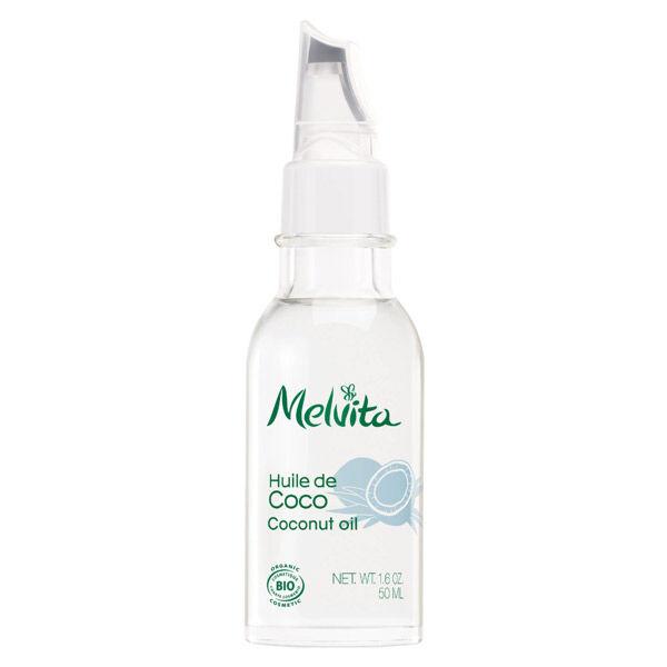 Melvita Huile de Coco Nourrissante Cheveux Secs et Abîmés Bio 50ml