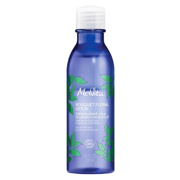 Melvita Bouquet Floral Detox Démaquillant Yeux Bi Phase Waterproof Bio 100ml