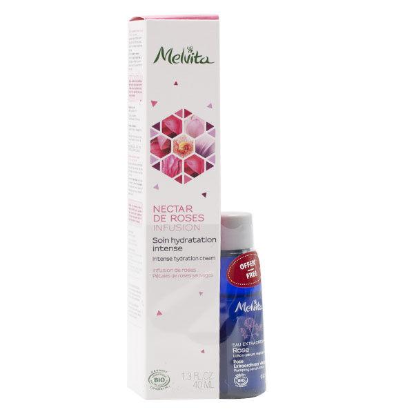 Melvita Nectar de Roses Soin de Jour Bio 40ml + Eau Extraordinaire Bio 28ml Offerte