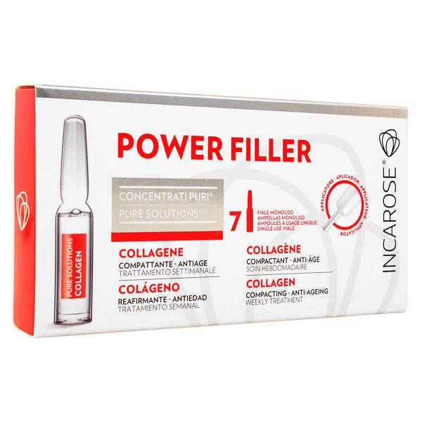 Incarose Power Filler Pure Solution Collagène Cure 7 ampoules