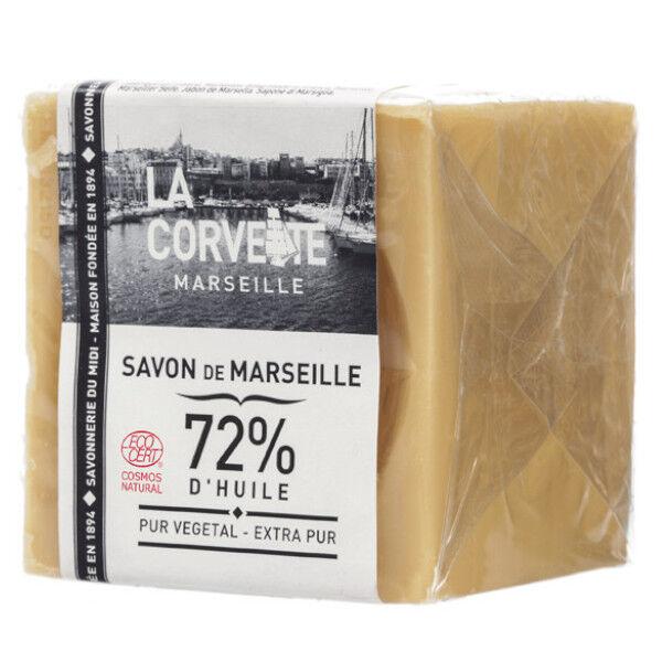 La Corvette Marseille Cube de Savon de Marseille Olive Extra Pur Filmé 500g