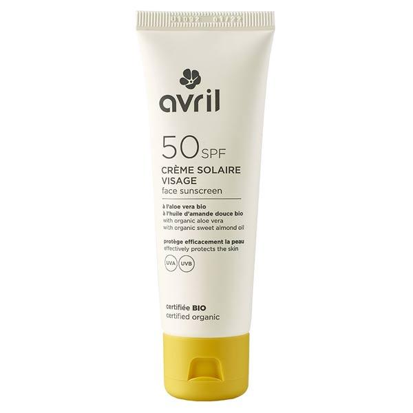 Avril Visage Crème Solaire SPF50 Bio 50ml