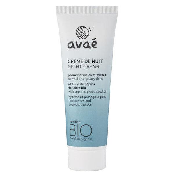 Avaé Crème de Nuit Peaux Normales et Mixtes Bio 50ml