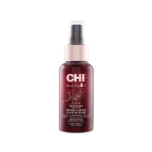 Chi Rose Hip Oil Soin Réparation et Brillance à l'Huile d'Eglantier sans Rinçage 59ml