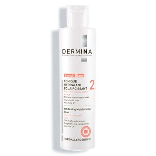 Dermina - Sensi-Blanc - Tonique Hydratant Eclaircissant Peaux Normales à Sèches 200ml
