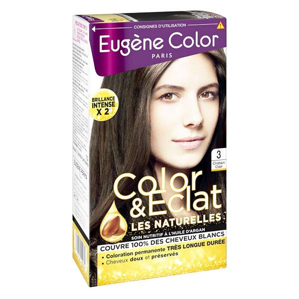 Eugène Color Les Naturelles Crème Colorante Permanente n°3 Châtain Clair