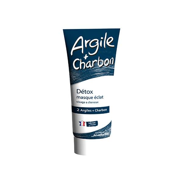 Juvaflorine Argile et Charbon Masque Détox Éclat 300g