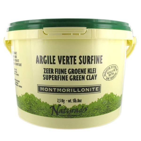Naturado Argile Verte Montmorillonite seau de 2,5 kg