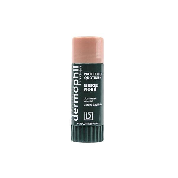 Dermophil Indien Stick Lèvres Soin Nacré Teinté Beige Rosé 4g