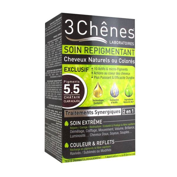 Les 3 Chênes Soin Repigmentant Châtain Clair Acajou 5.5
