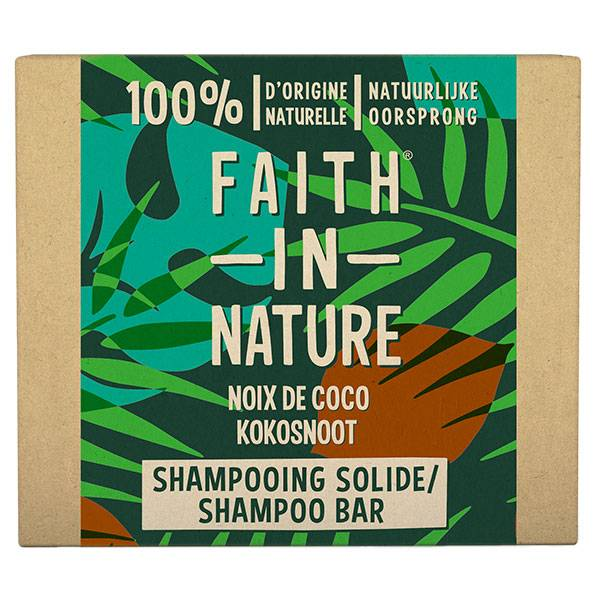 Faith In Nature Shampooing Solide Noix de Coco 85g