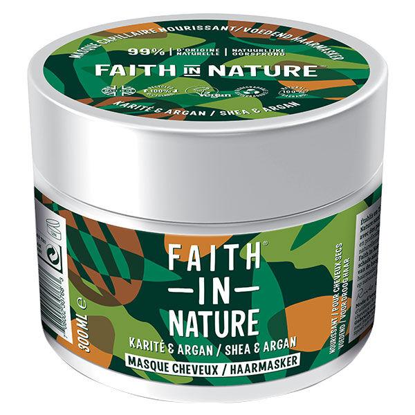 Faith In Nature Masque Cheveux Argan & Karité 300ml