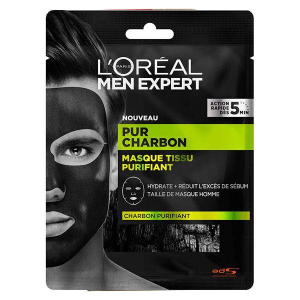 L'Oréal Paris L'Oréal Men Expert Skincare Pur Charbon Masque Tissu Purifiant 28g