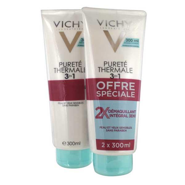 Vichy Lait Démaquillant Intégral 3 en 1 Lot de 2 x 300ml