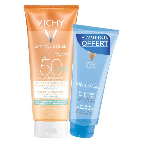 Vichy Ideal Soleil Gel de Lait IP50+ 200ml + Après Soleil 100ml Offert