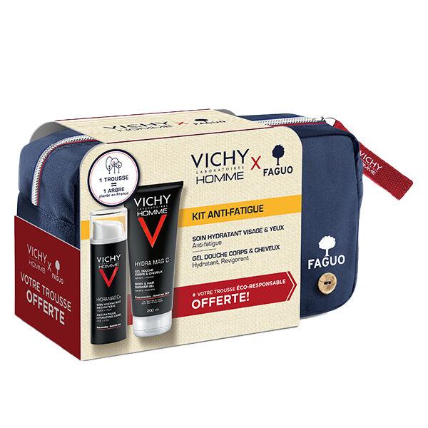 Vichy Homme Kit Anti-Fatigue Trousse Hydra Mag C+ 50ml + Gel Douche 200ml