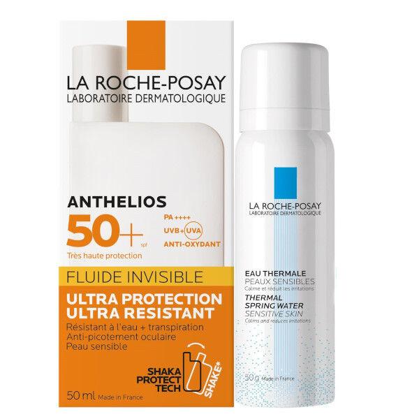 La Roche Posay Anthelios Fluide Solaire Visage SPF50+ 50ml + Eau Thermale 50ml Offerte