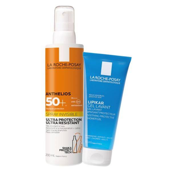 La Roche Posay Anthelios Spray Solaire SPF50+ 200ml + Lipikar Gel Lavant 100ml Offert