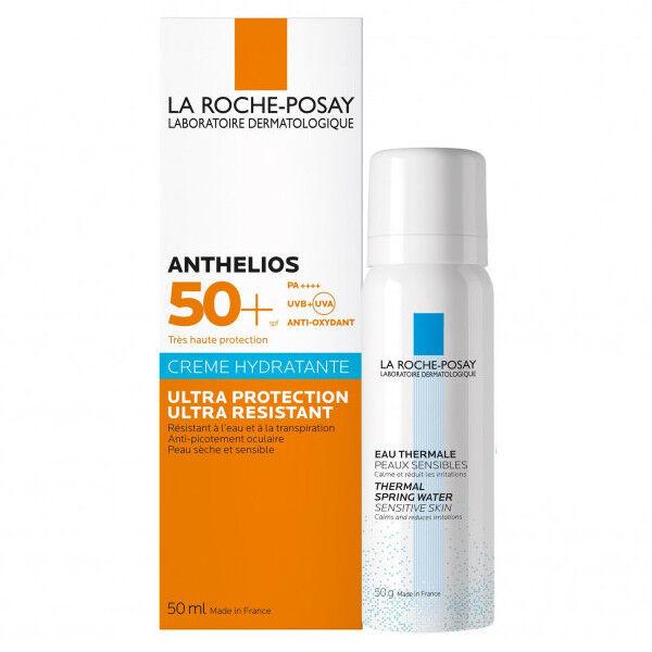 La Roche Posay Anthelios Crème Solaire Visage Hydratante SPF50+ 50ml + Eau Thermale 50ml Offerte