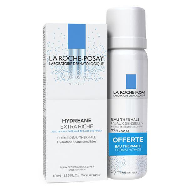 La Roche Posay Hydreane Extra Riche 40ml + Eau Thermale 50ml Offert