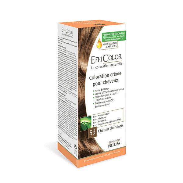 EffiColor Coloration Crème Châtain Clair Doré 53