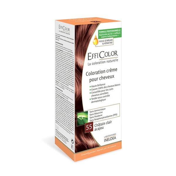 EffiColor Coloration Crème Châtain Clair Acajou 55