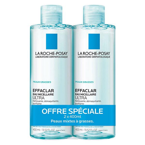 La Roche Posay La Roche-Posay Effaclar Eau Micellaire Purifiante Lot de 2 x 400 ml