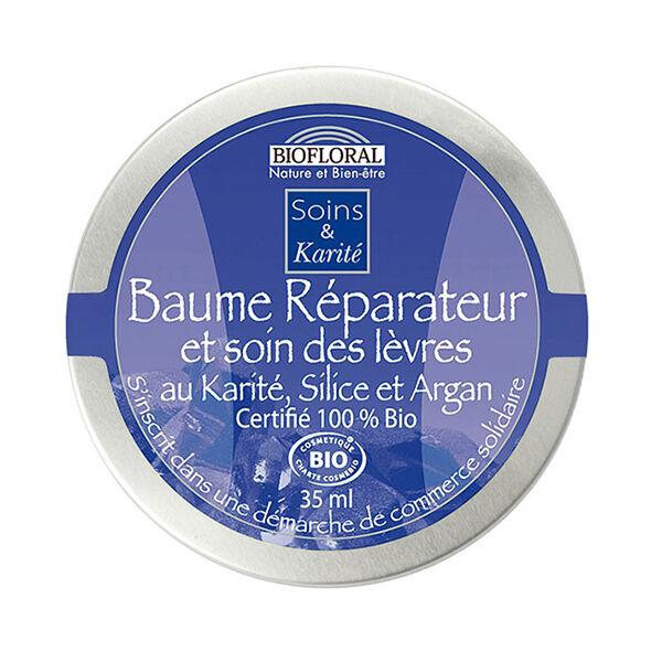 Biofloral Baume Réparateur & Soin des lèvres au Karité Silice et Argan pot 35ml