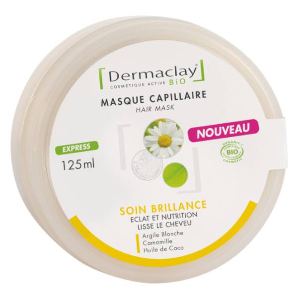 Dermaclay Masque Capillaire Soin Brillance 125ml