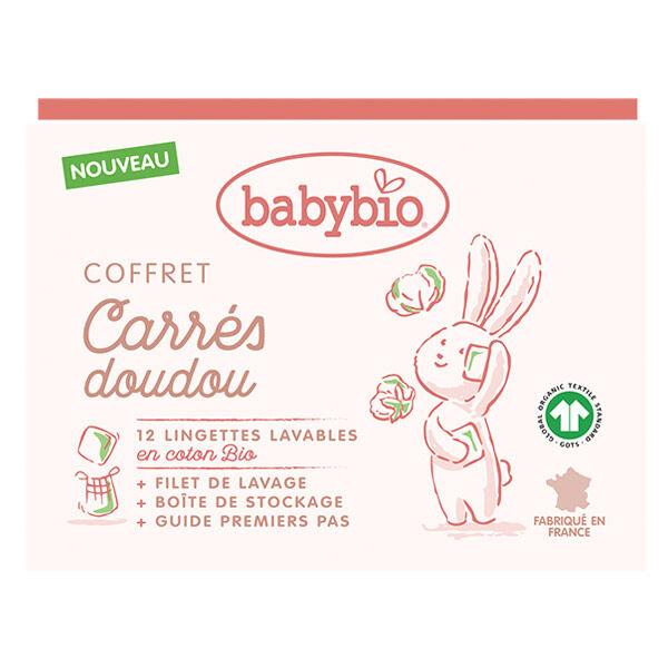 Babybio Soins Lingettes Lavables en Coton Bio 12 unités + Filet de Lavage