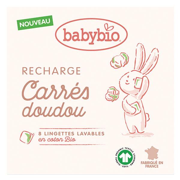 Babybio Soins Lingettes Lavables en Coton Bio 8 unités