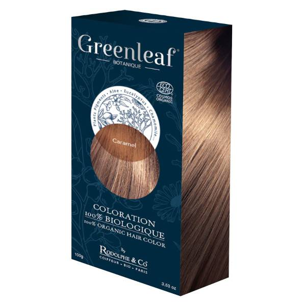GreenLeaf Botanique Coloration 100 % Végétale Bio Caramel 100g