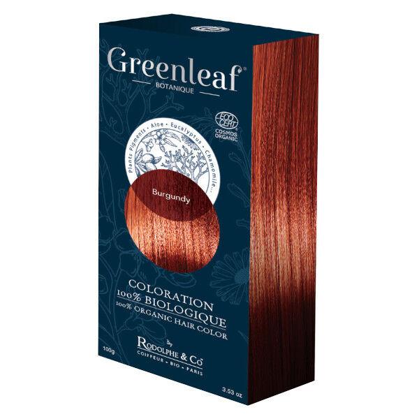 GreenLeaf Botanique Coloration 100 % Végétale Bio Cuivré Rouge 100g